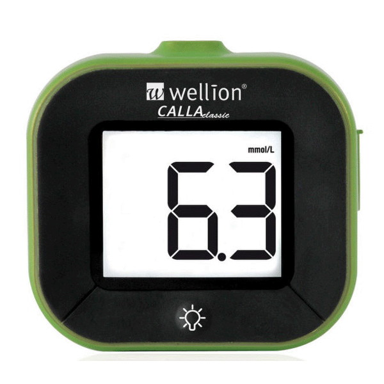 Glukomer Wellion Calla Light, zelená farba